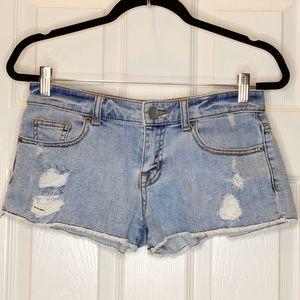 Victoria's Secret boyfriend cut off shorts size 0